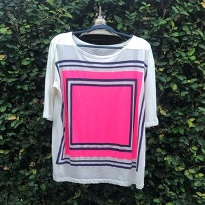 J. Crew Collection Tees Geometric Print in Neon